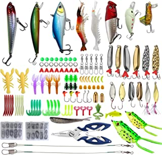 235pcs Fishing Lures Set Include Crankbaits Frog Lure...