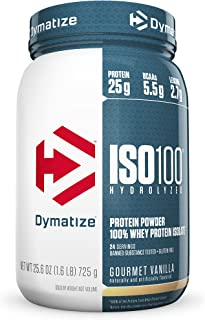 Dymatize ISO 100 Post Workout and Recovery Supplements, Gourmet Vanilla, 1.6 lbs (Pack of 6)