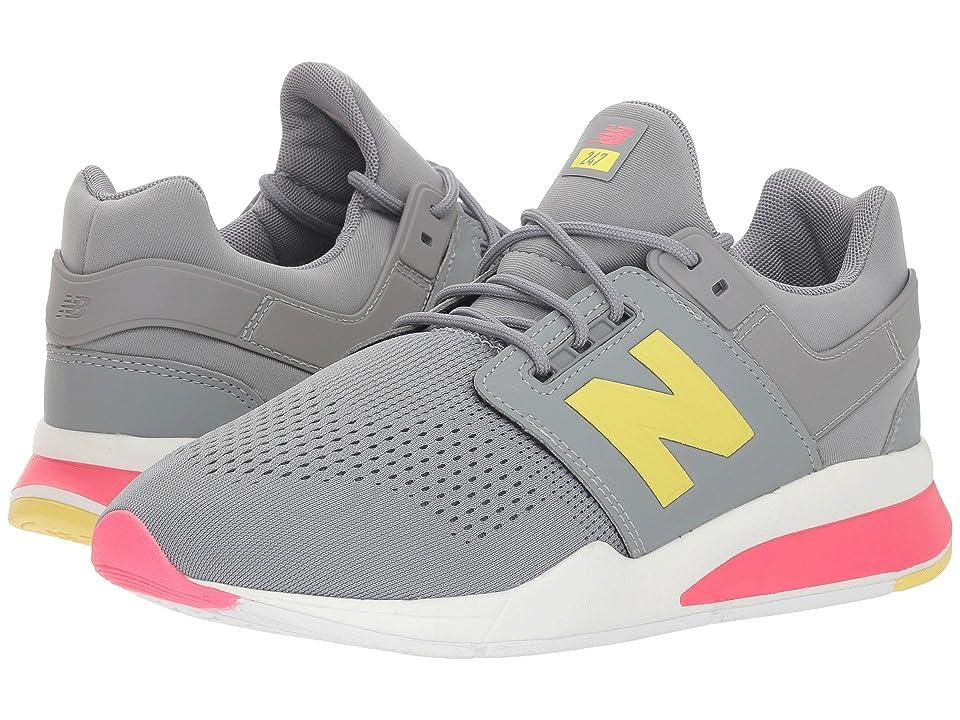 New Balance Kids KA247v2G (Big Kid) (Grey/Pink) Girls Shoes