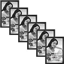 Malden International Designs Metro Picture Frame, 4x6, Black, 6 Pack