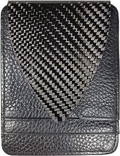 M3 Carbon Fiber Wallet Black Leather 1 Point Real Carbon Fiber Money Clip