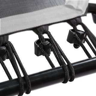 Bungee de Cuerdas Set Incluye Clip de fijación para Sport Plus Fitness trampolín, 36Unidades