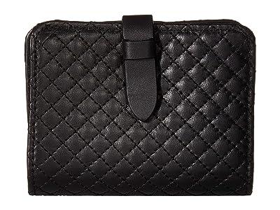 Vera Bradley Carryall RFID Small Wallet (Black) Wallet Handbags