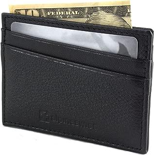 Front Pocket Wallet Minimalist Super Thin 5 Card Wallet Genuine Leather