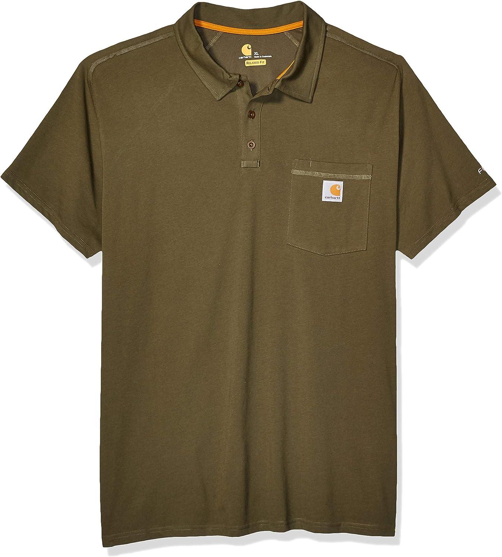 Carhartt Force Cotton Delmont Pocket Polo Camisa Hombre