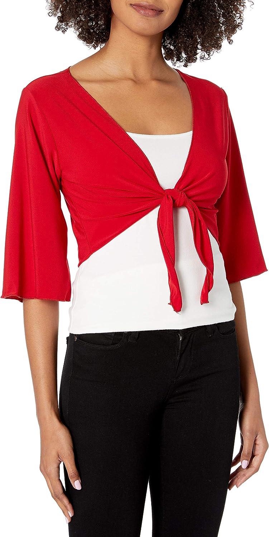 Star Vixen Women's 3/4 Sleeve Tiefront Shrug
