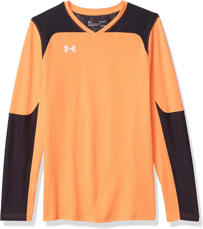 mezclador avance Ataque de nervios  Amazon.com : Under Armour Boys' Threadborne Wall Goalkeeper Jersey :  Clothing