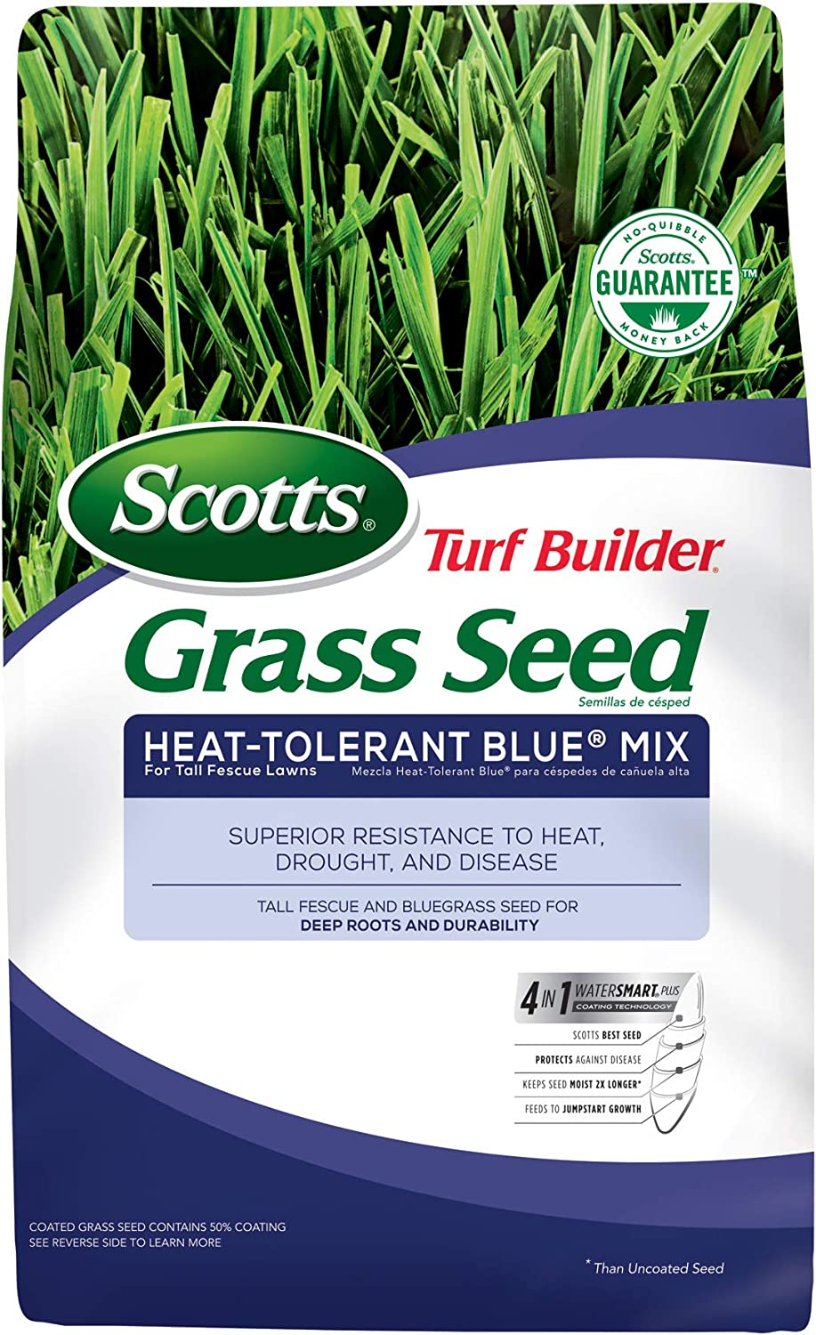 Scotts Turf Builder Grass Denver Mall Seed Heat-Tolerant For Blue F Mix Tall SEAL limited product