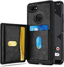 ProCase Wallet Case for Google Pixel 3 XL, Slim Flip Kickstand Leather Case Minimalist Hybrid Stand Protective Back Cover with Two Card Slots Holder for Google Pixel 3 XL 6.3 Inch 2018 Release –Black