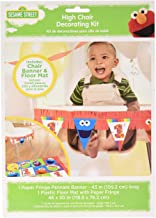 amscan 1st Birthday High Chair Decorating Kit Party Supplies Elmo Sesame Street Fun to Be One! One Size, Multicolor