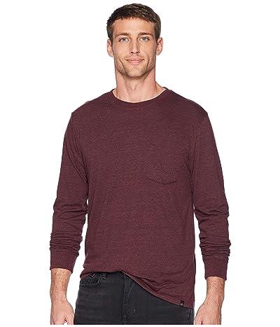Threads 4 Thought Baseline Tri-Blend Long Sleeve Pocket Tee (Maroon Rust) Men