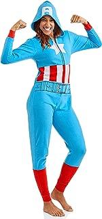 Marvel Women's Cozy Union Suit Pajamas Sleepwear