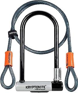 Kryptonite New-U KryptoLok Series 2 Standard Bicycle U Lock with 4ft Flex Bike Cable