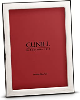 Cunill Oxford 5x7 Sterling Silver Picture Frame, White