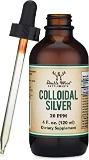 Colloidal Silver Liquid 20 PPM - 4 Fl OZ (Plata Coloidal with Dropper) 99.9% Pure, Made in The USA, Gluten Free, Non-GMO b...