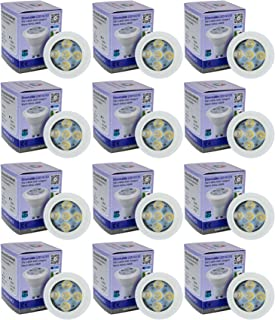 Allcam 12 Pack Dimmable Regulable LED GU10 Bulbs 5W Bright Warm White 3000K cálida Blanco, Replace 35-50W Halogen Lights, 48mm Height, Perfect as LED Spotlight or Downlights