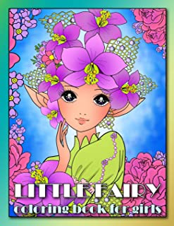 Little Fairy Coloring Book for Girls: Relaxing Colouring Book for Girls, Teens adn Adults, Detailed Coloring Pages of Fairies (Anime Coloring Books for Girls)