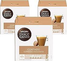 كبسولات قهوة كورتادو اسبريسو ماكياتو من نسكافية دولتشي غوستو، 48 كبسولة لصنع 48 كوب
