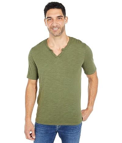 Mod-o-doc Topanga Short Sleeve Notch V-Neck Tee (Cypress) Men