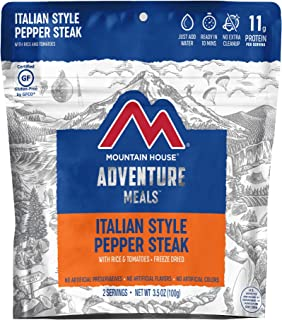Mountain House Italian Style Pepper Steak | Freeze Dried Backpacking & Camping Food | Gluten-Free