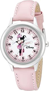 Kids' W000038 Minnie Mouse Time Teacher Stainless Steel...