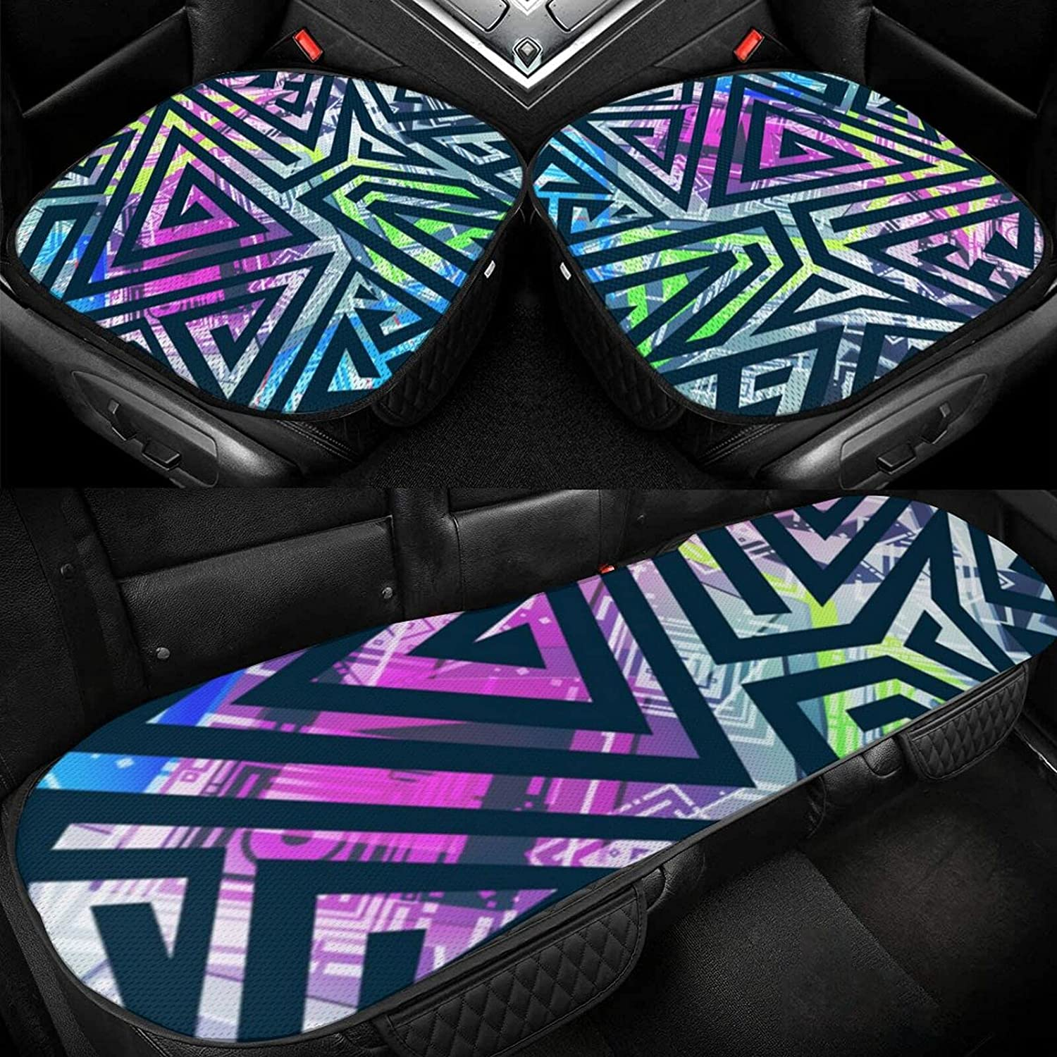 Car Ice Pad Colored Geometric Max 60% OFF Cov New products, world's highest quality popular! Protective Breathable Non-Slip