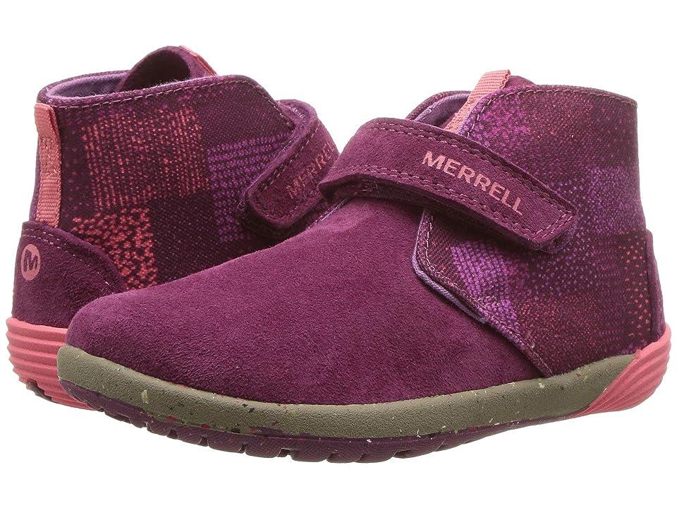 Merrell Kids Bare Steps Boot (Toddler) (Berry) Girls Shoes