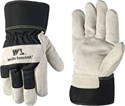 Men's Heavy Duty Winter Work Gloves with Cowhide Leather Palm, Large (5130L)