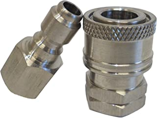 Ultimate Washer UW16-PWCD05 1/4-Inch Stainless Steel Quick Connect Pressure Washer Adapter Set, Max Pressure 5000 PSI Rating