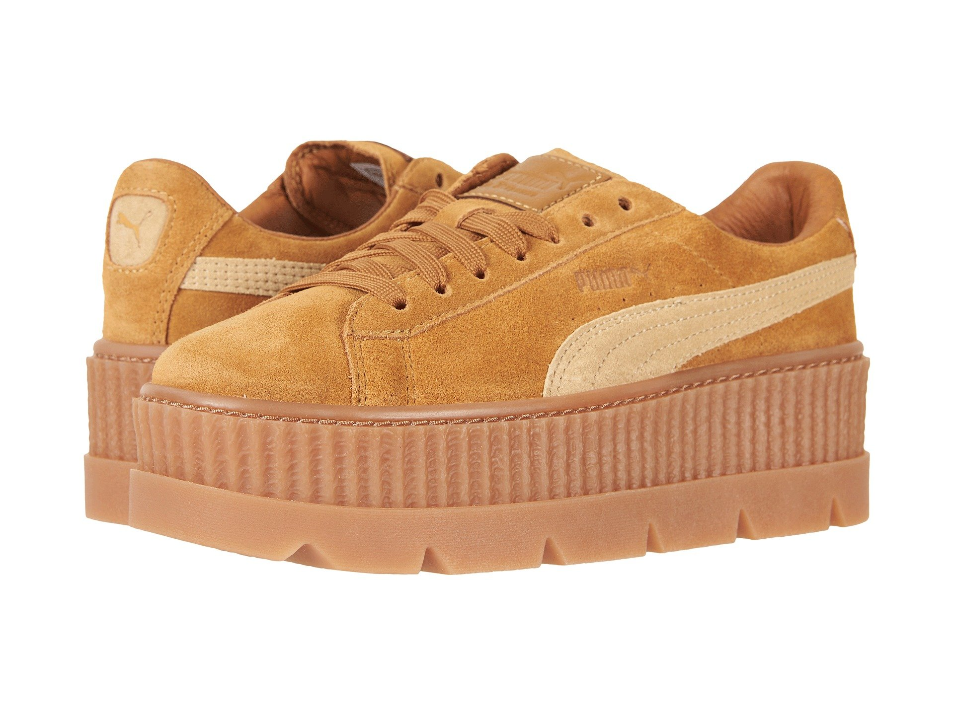 Puma Cleated Creeper Suede In Golden Brown Lark  d53ccc660