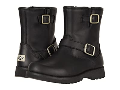 UGG Kids Harwell (Little Kid/Big Kid) (Black) Kids Shoes