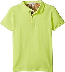 Burberry Kids Mini Short Sleeve PPM Polo Shirt (Little Kids/Big Kids)