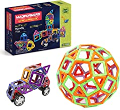 Magformers Challenger Set (112-pieces) Deluxe Magnetic Building Blocks, Educational Magnetic Tiles Kit , Magnetic Construc...