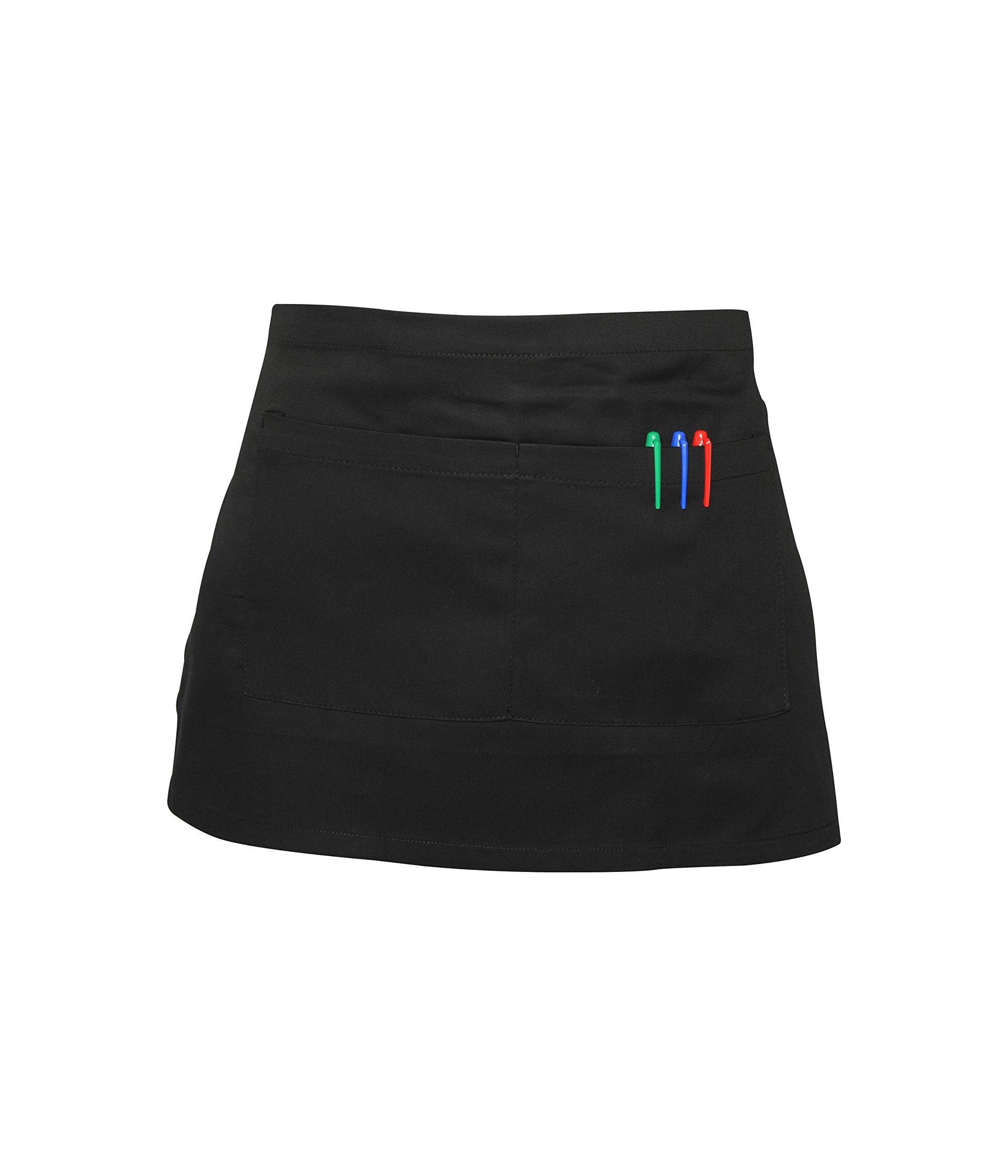 Premier Unisex Chefs Butchers Cooking Tabard Short Style Colours 3 Pocket Apron