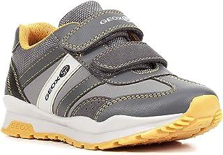 Geox Boys' CORIDAN 8 Sneaker Dual Riptape Strap, Blk, Black CHARC2, 35 M EU Big Kid (3.5 US)