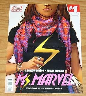 Ms. Marvel #1/Thor: God of Thunder #1 promo poster - Kamala Khan - Marvel ; poster (0078X-F)