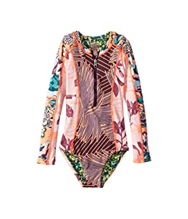 Playa Chiquita Long Sleeve One-Piece (Toddler/Little Kids/Big Kids)
