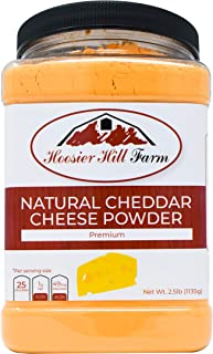 Hoosier Hill Farm Premium Cheddar Cheese Powder, No Artificial Colors, Gluten Free, Made in the USA (2.5 lb)