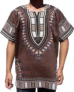 RaanPahMuang 明亮色彩棉质非洲长颈衣 加大码无褶