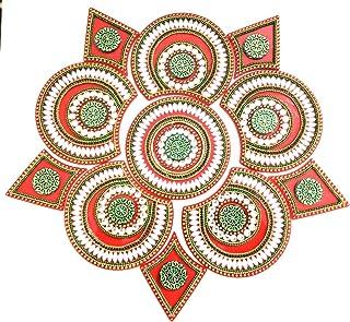 KRIWIN® Acrylic Rangoli (11 pcs Set 12 inch Red)