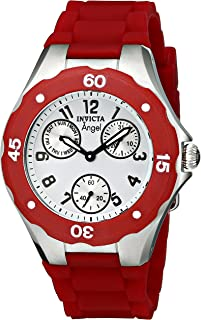 Invicta Womens 0701 Angel Collection Cranberry Multi-Function Watchh