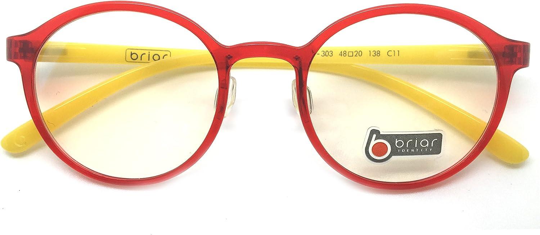 Briar Prescription Eye Glasses Frame Ultem Super Light, Flexible Br 303 C11