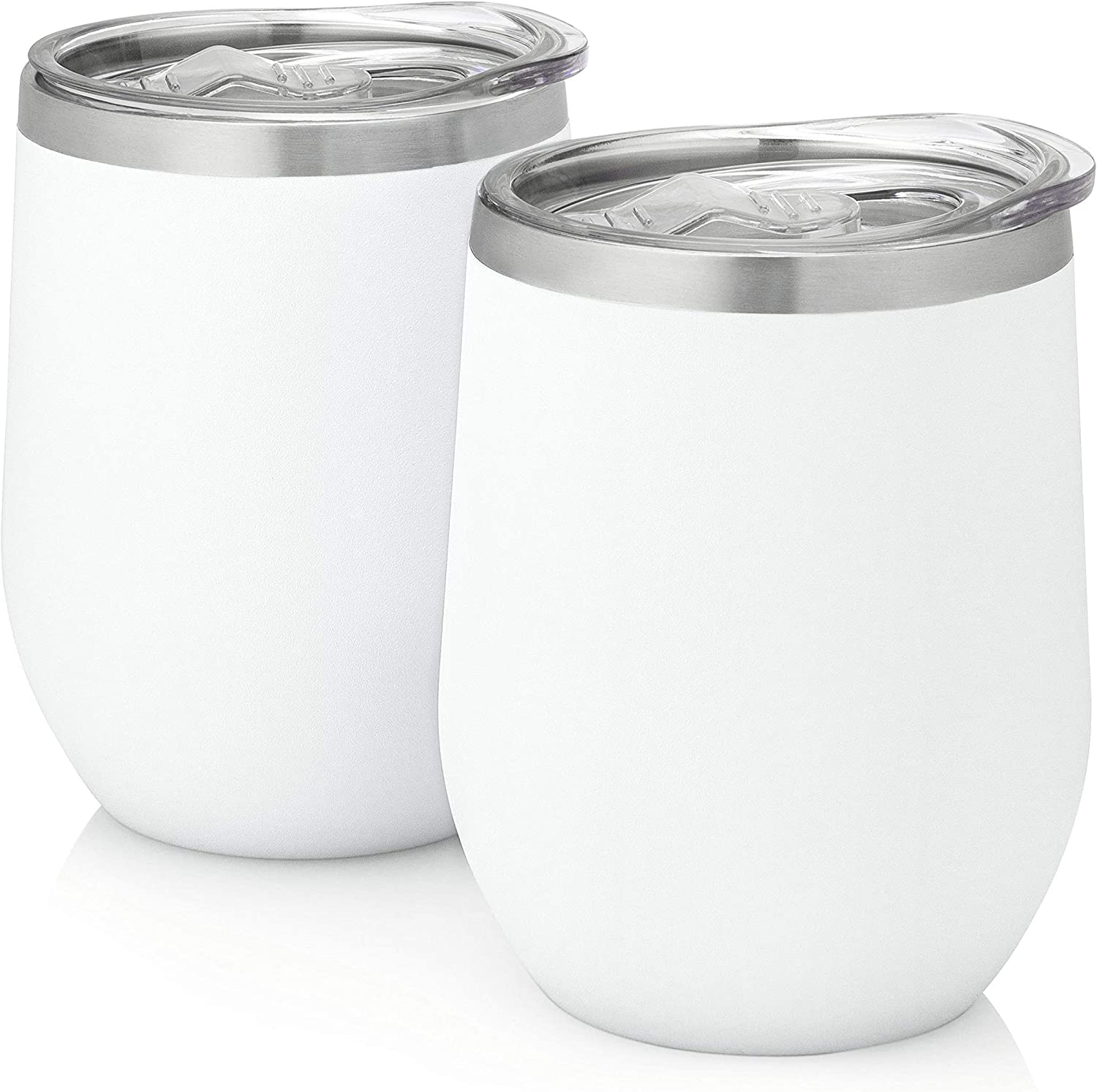 MiracleHour Stainless Steel Wine Tumbler with Lid 12oz of 70% OFF Outlet Time sale Set -