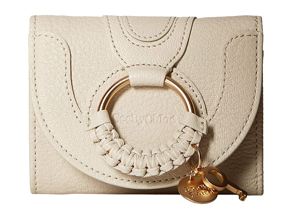 See by Chloe Hana Leather Wallet (Cement Beige) Handbags