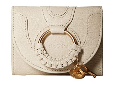 See by Chloe Hana Leather Wallet (Cement Beige) Handbags