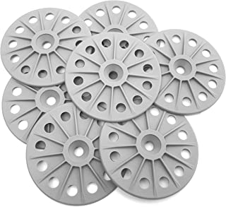 300PCS 60mm Reinforced 30% Glass Fibre Washers for Fixing Rigid Insulation Boards, Mid Grey