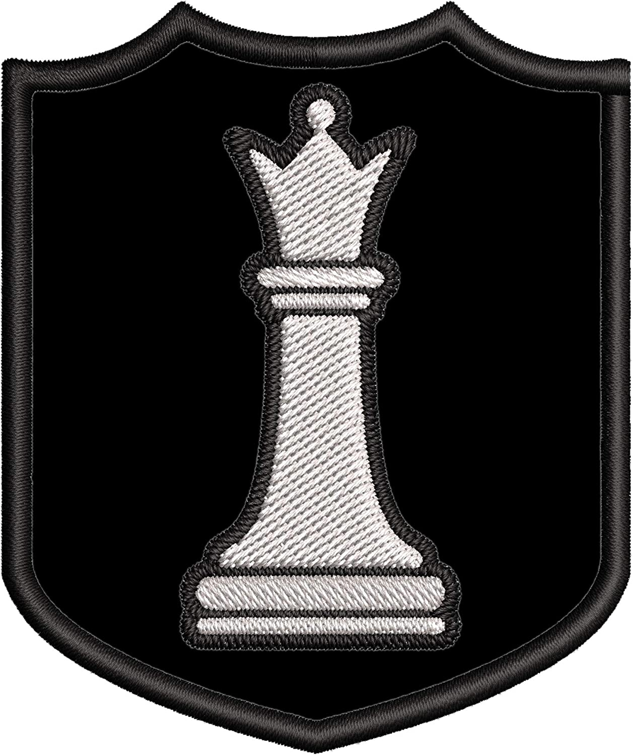 White Bombing new work Long Beach Mall Queen Chess Piece Embroidered DIY Premium Iron-on or Patch