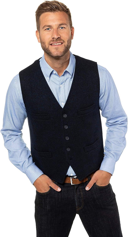 JP 1880 Menswear Big & Tall Plus Size L-8XL Knitted Vest Marine XXXXXX-Large 723454 70