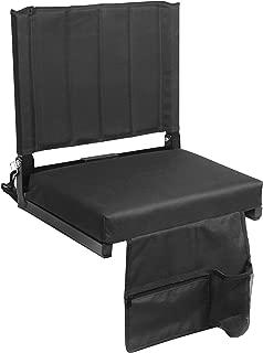 SPORT BEATS Stadium Seat for Bleacher Seat Chair with Back Support和宽垫垫,包括肩带杯架和储物袋
