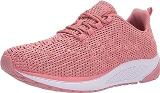 Propét womens Tour Knit Sneaker, Dark Pink, 6.5 US